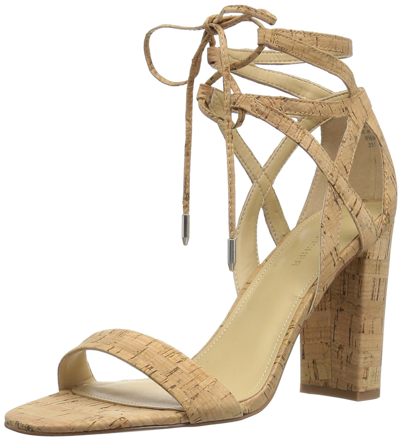 Marc Fisher Womens fatima Fabric Open Toe Special Occasion Natural Size 110 0
