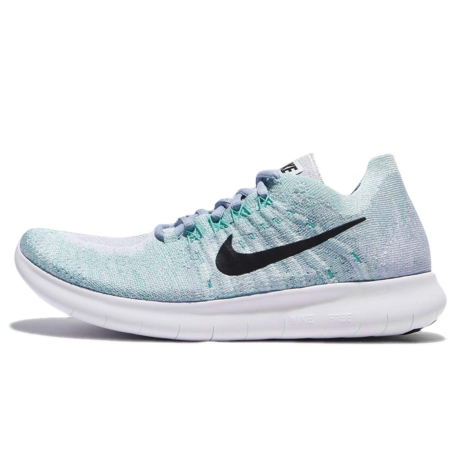 new concept 0224c d8a7b Details about Nike Womens Free RN Flyknit 2017 Fabric Low Top Lace Up  Running Sneaker