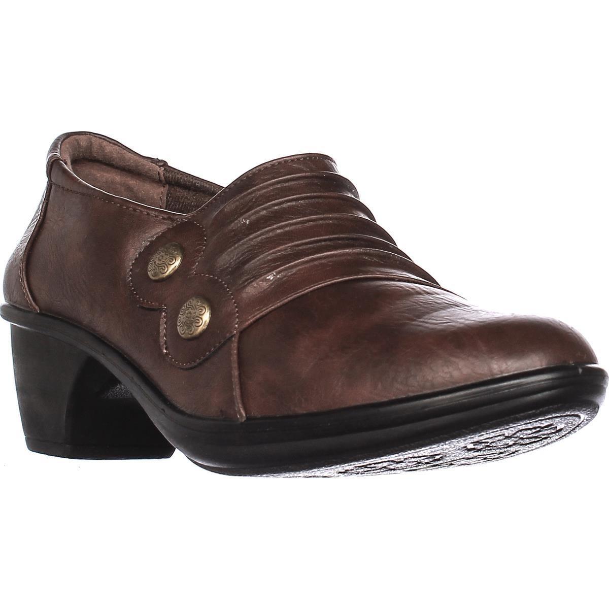 Easy Street Womens Edison Round Toe Clogs Tan Size 11.0