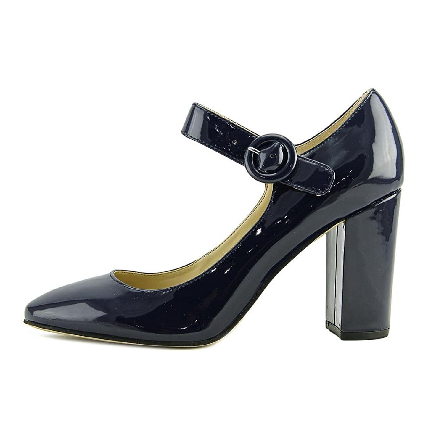 Marc Fisher Womens Shaylie Closed Toe Ankle Strap Mary Jane Dark Blue Size 7.0