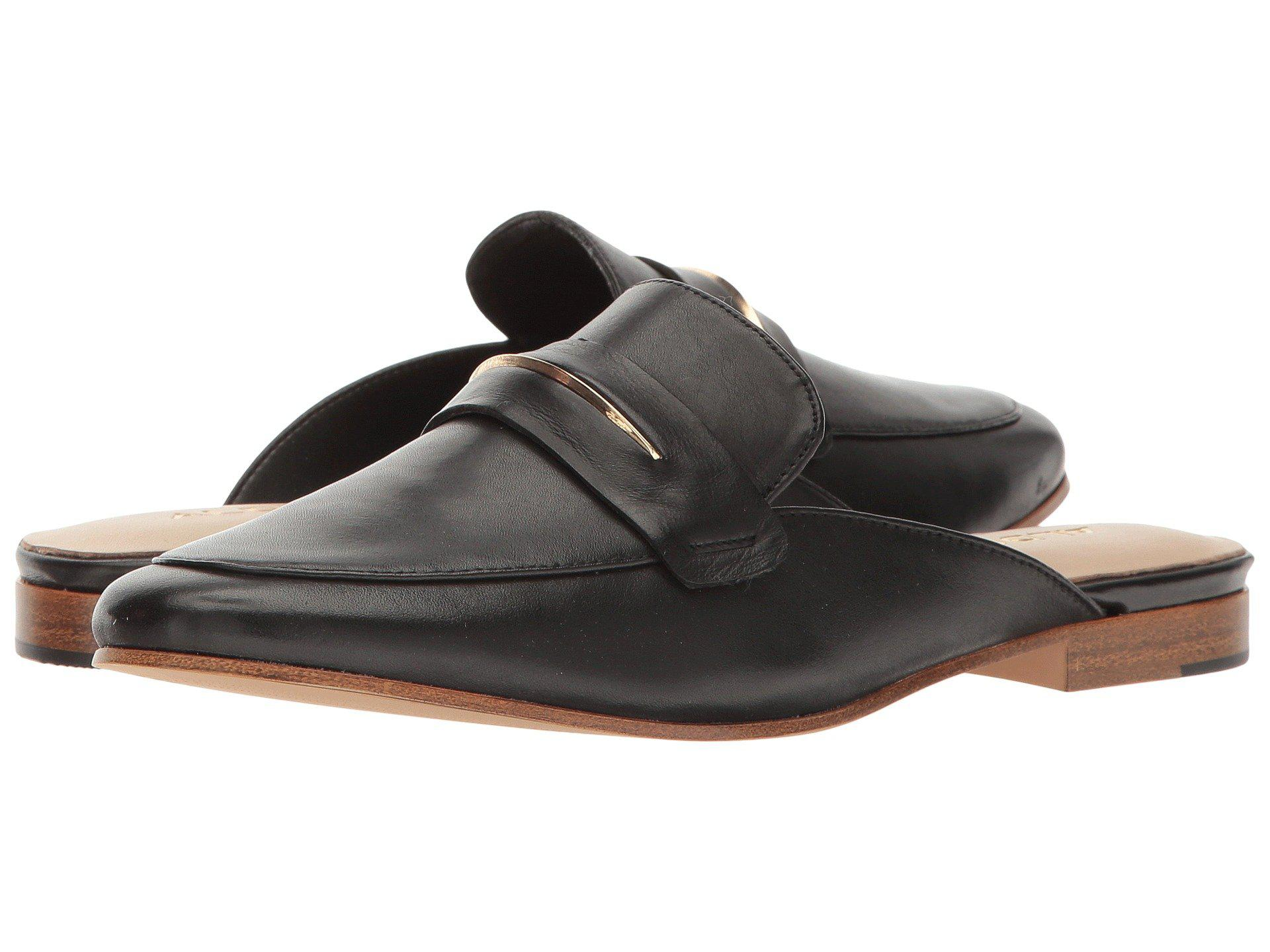 Aldo Womens Shahan Leather Almond Toe Mules Black Leather Size 6.5