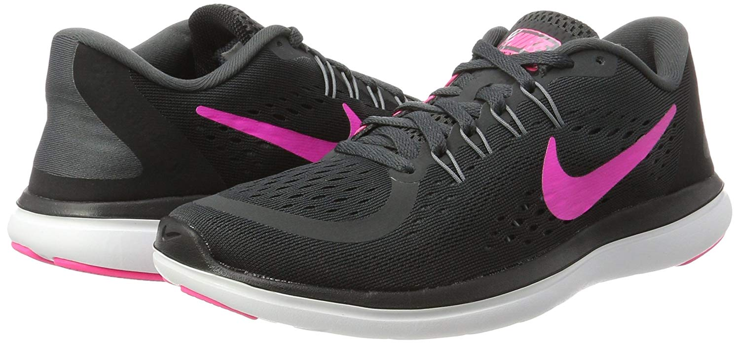 2868cf7d6a86 Details about Nike Womens Nike flex 2017 RN Fabric Low Top Lace Up Running  Sneaker