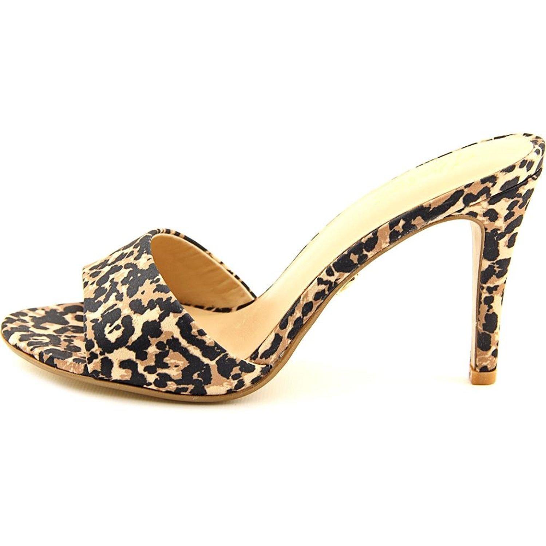 Thalia Sodi Womens Karina Open Toe Casual Slide Sandals Leopard Size 75