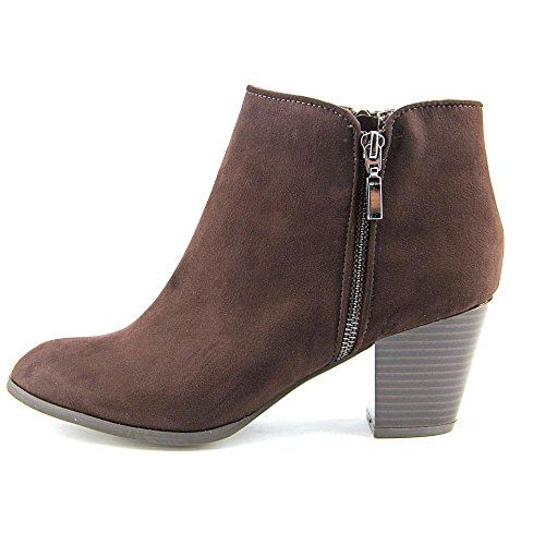 Style & Co. Womens JAMILA Leather Almond Toe Ankle Fashion Boots Oak Size 10.0