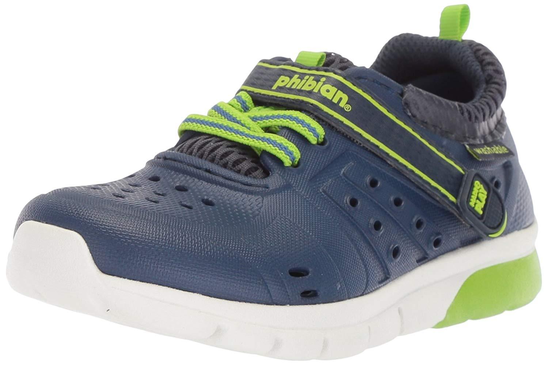 Kids Stride Rite Boys Phibian   Fisherman Sandals, Blue/Blue, Size 6.0 ZNS7