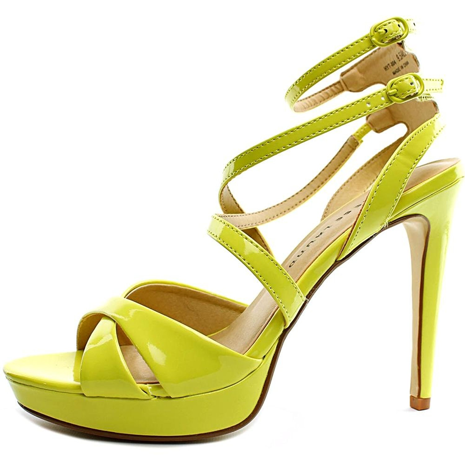 Chinese Laundry Womens HIghlight Open Toe Ankle Strap Platform Lemon Size 9.0