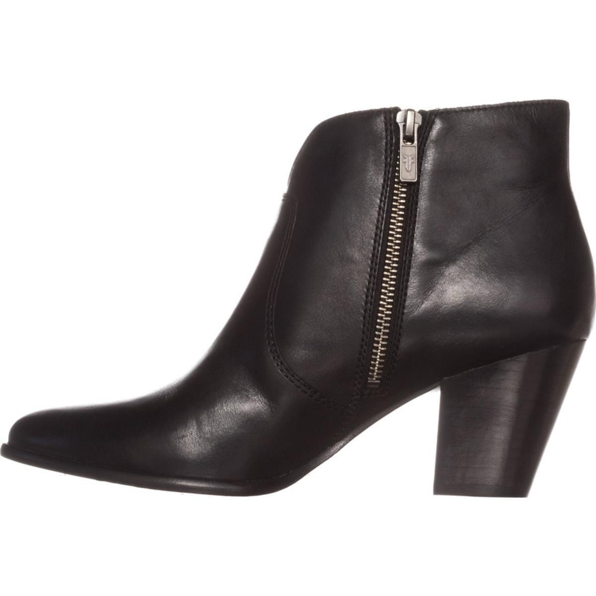 Frye-Womens-Jennifer-Bootie-Leather-Pointed-Toe-Ankle-Fashion-Black-Size-7-0-q