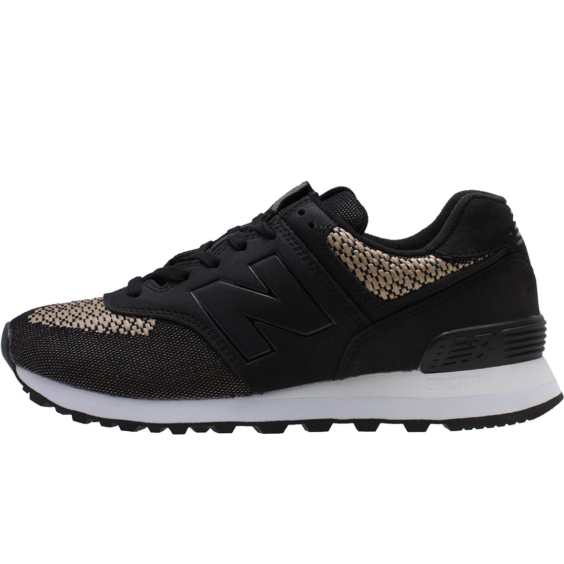 huge discount 3cd41 42d03 Details about New Balance Women's Ml574 Tech Raffia, black, Size 6.0