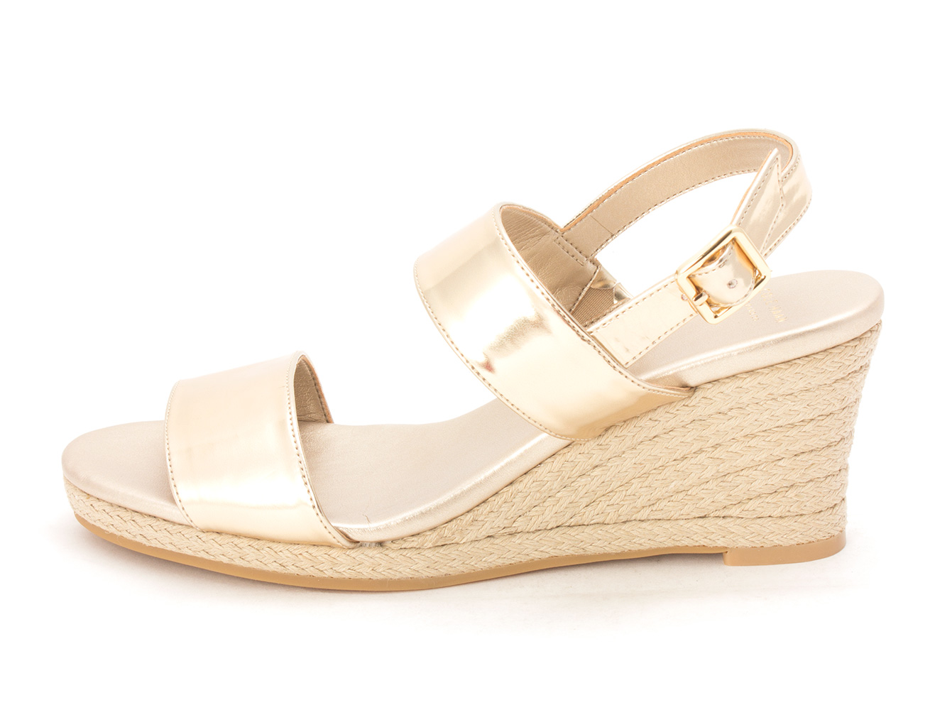 Cole Haan Womens 14A4177 Open Toe Casual Platform Sandals Soft Gold Size 60