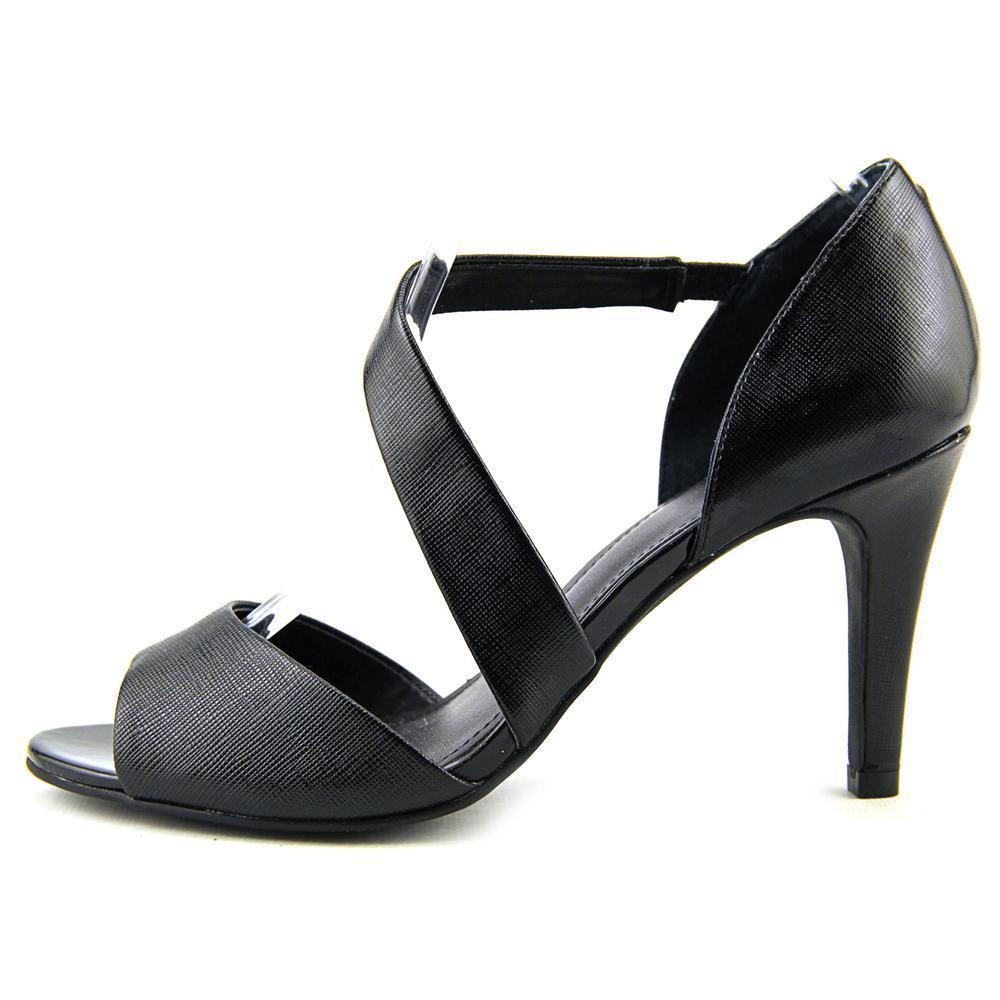 Alfani Womens MAVIDA Open Toe Dorsay Pumps Black Size 9.0