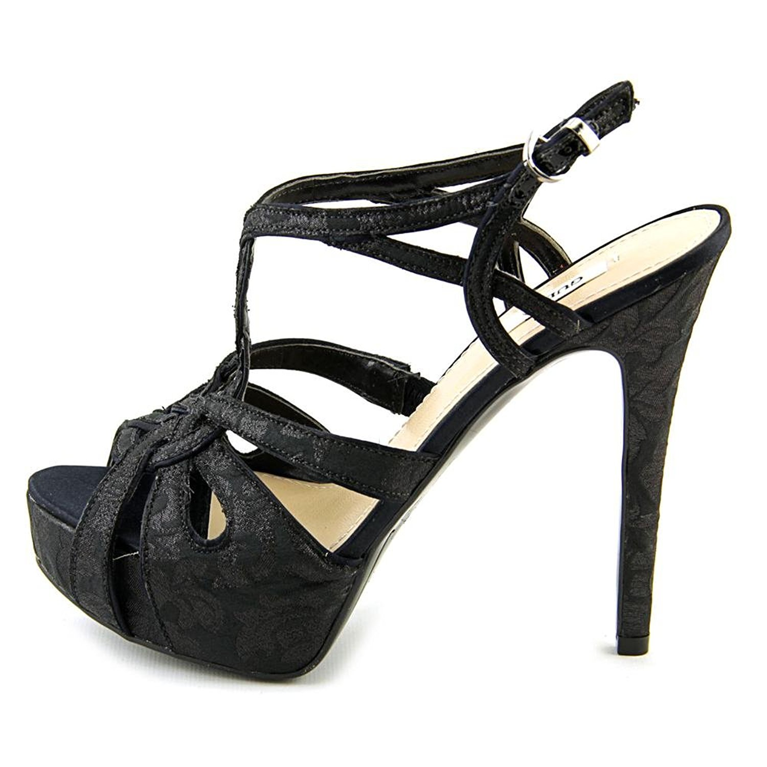 GUESS Womens KAESY2 Open Toe SlingBack Platform Pumps Black Size 9.0 W7ta