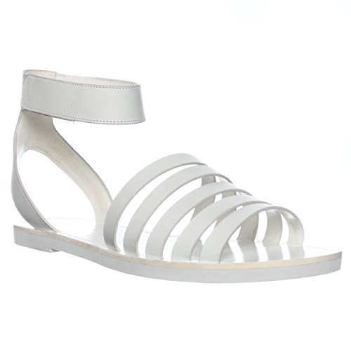 Vince Cassie Open Toe Leather Slingback Sandal Bone Size 10.0