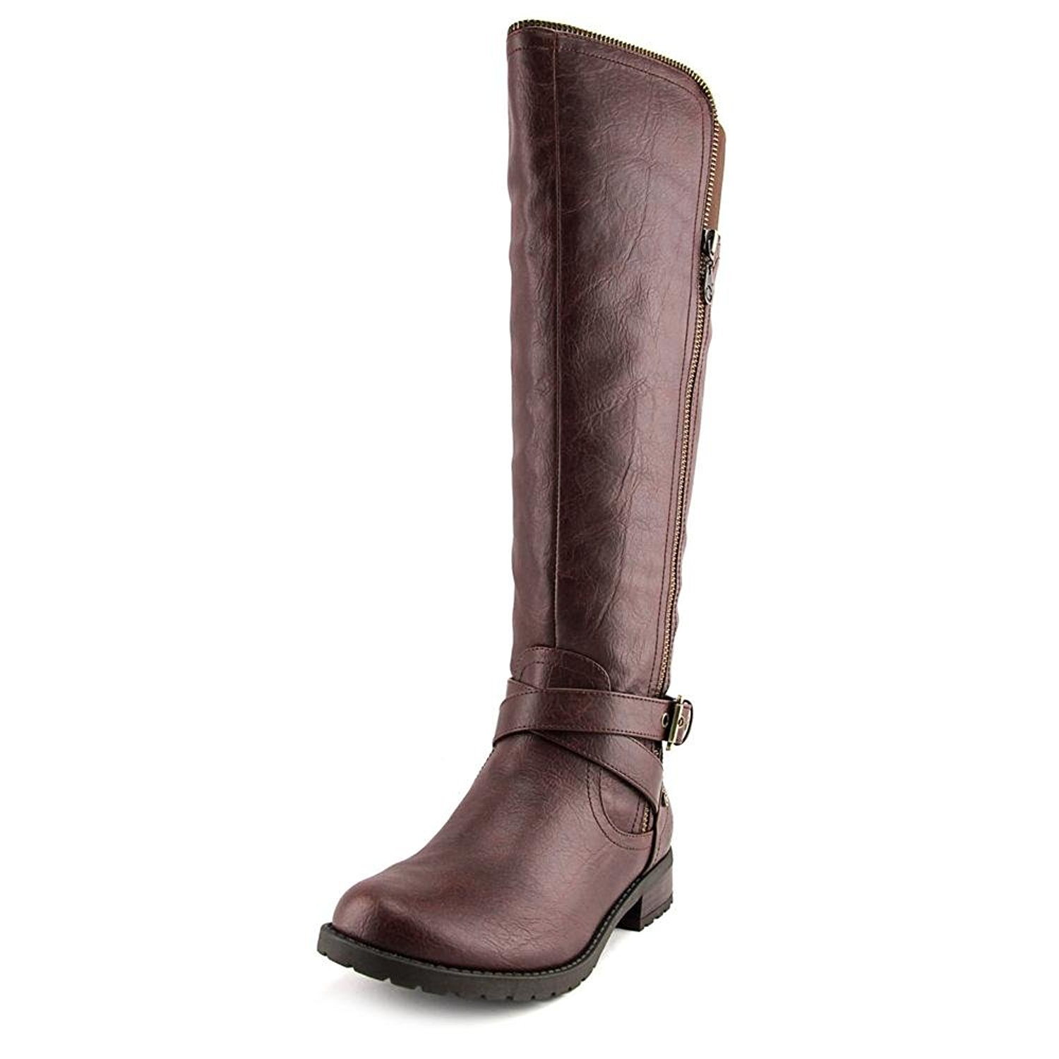 G by Guess Womens Halsey Round Toe Knee High Riding Boots Dark Brown Size 7.0