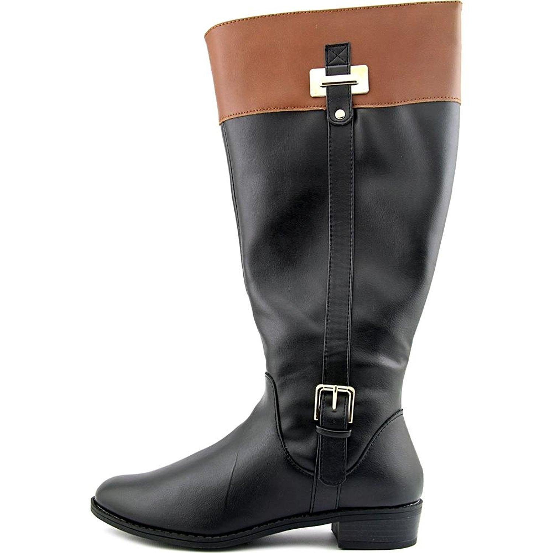 Karen Scott Damenschuhe Deliee WIDE Knee CALF Leder Closed Toe Knee WIDE High ... 77eefa