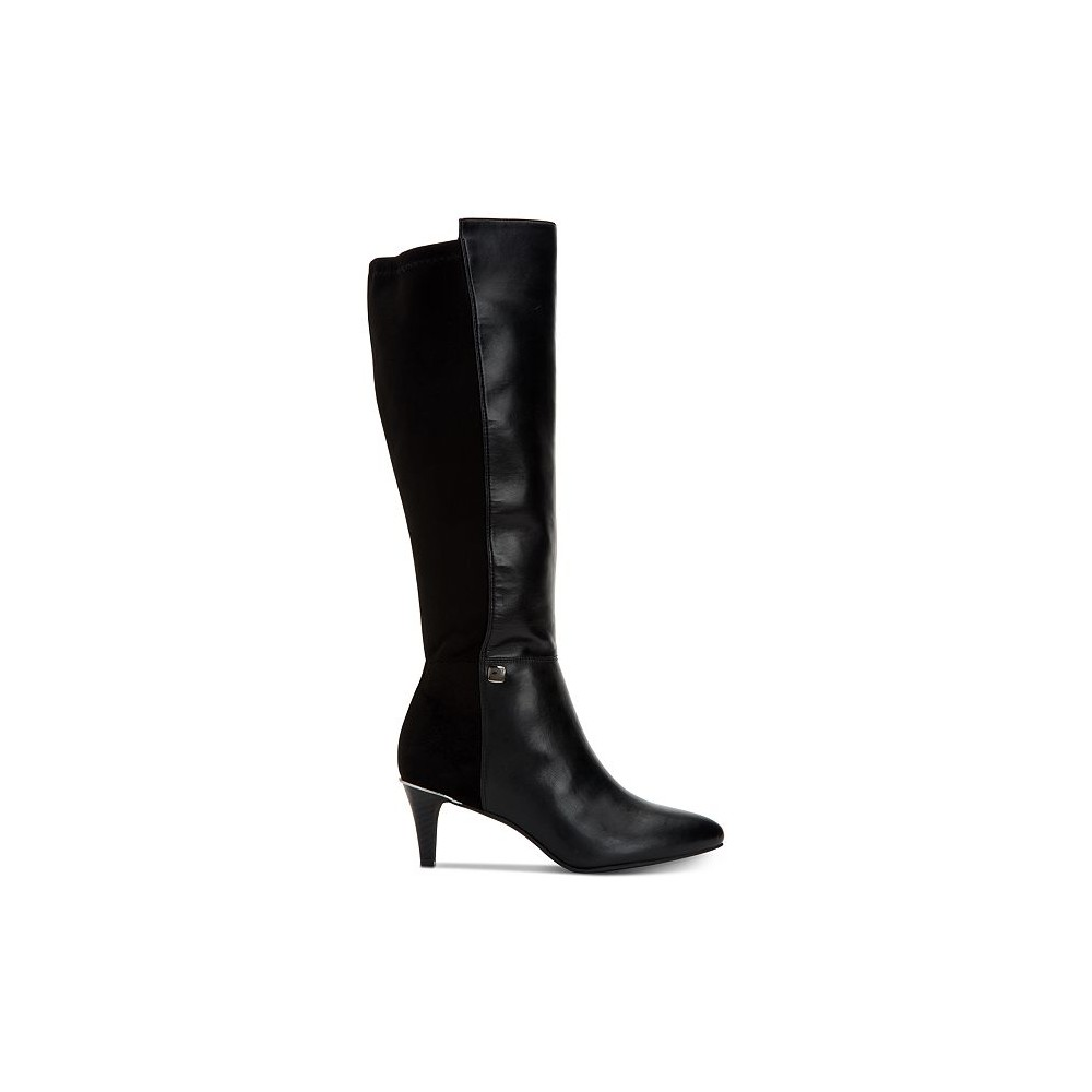Alfani-Womens-hakuu-Leather-Pointed-Toe-Knee-High-Fashion-Boots thumbnail 6