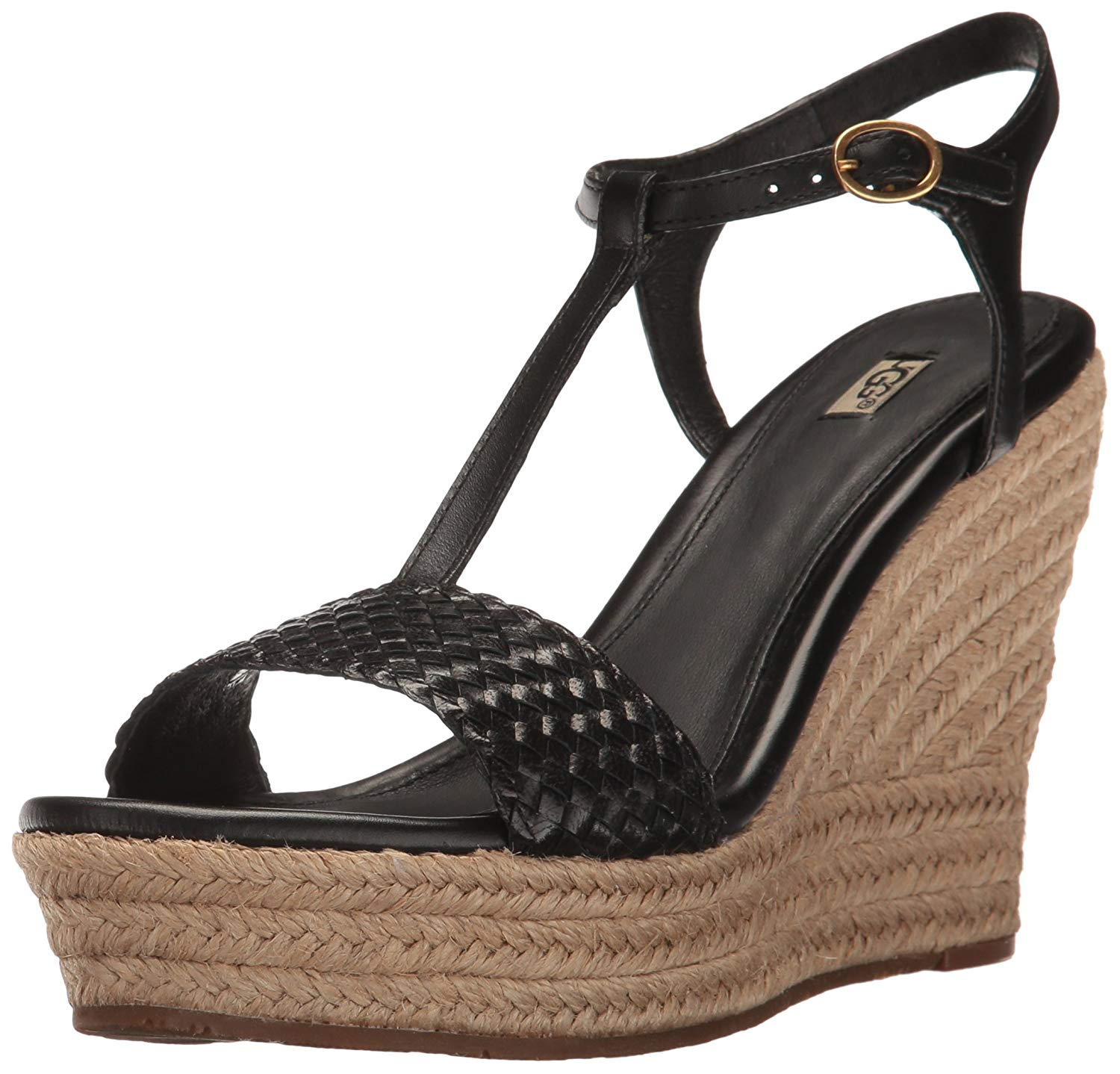22fa81021d UGG Women's Fitchie II Wedge Sandal, Black, Size 11.0 US / 9 UK ...