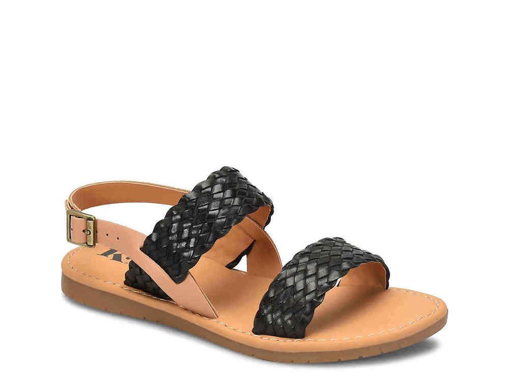 Korks by KorkEase Womens callista Open Toe Casual Ankle Strap Black Size 90