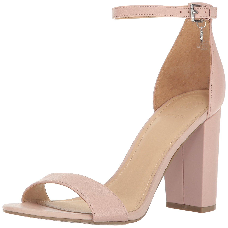 GUESS Women's Bamboo Heeled Sandal Blush Size 8.0