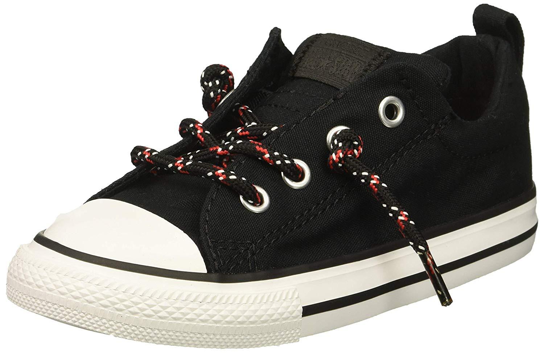 Details about Converse Kids' Chuck Taylor All Star Street, BlackEnamel RedWhite, Size 11.0 P