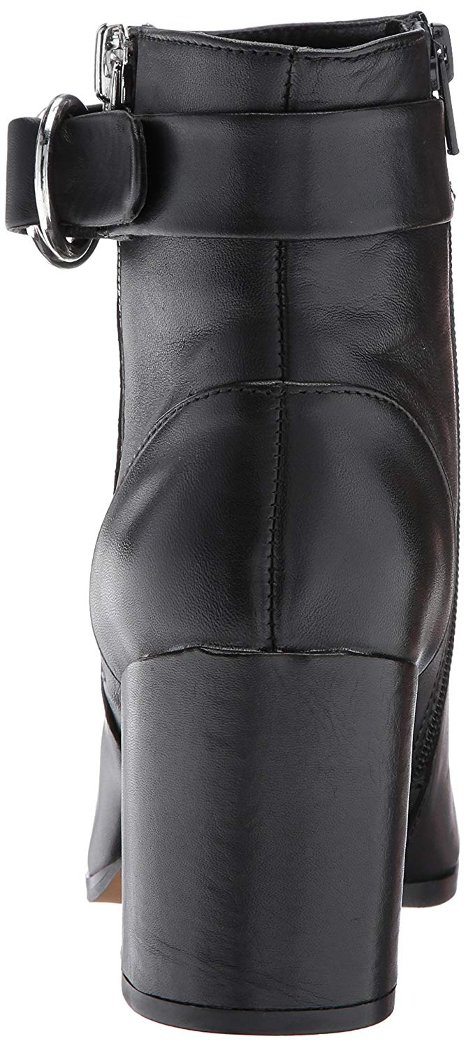 9dfd79767fd Details about STEVEN by Steve Madden Women's Johannah Ankle Bootie, Black  Leather, Size 8.5 c9