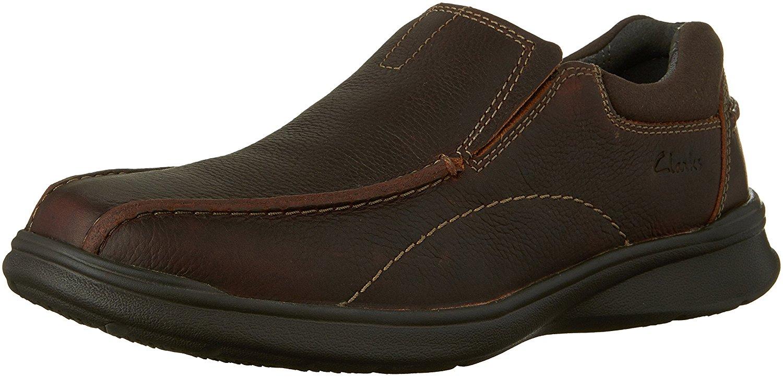 Clarks-Homme-Cotrell-etape-en-cuir-a-lacets-Casual-Derbies-Marron-Huileux-taille-13-0-S
