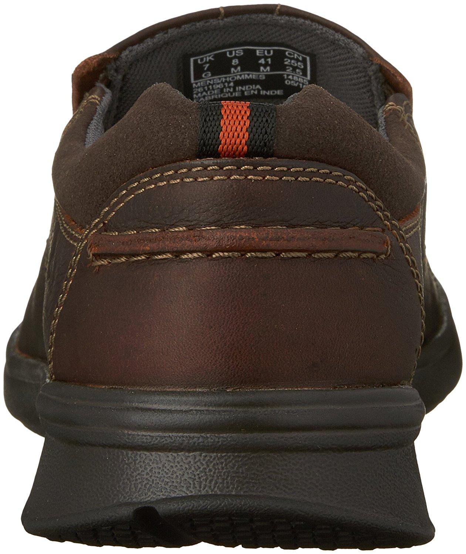 Clarks-Homme-Cotrell-etape-en-cuir-a-lacets-Casual-Derbies-Marron-Huileux-taille-13-0-S miniature 2