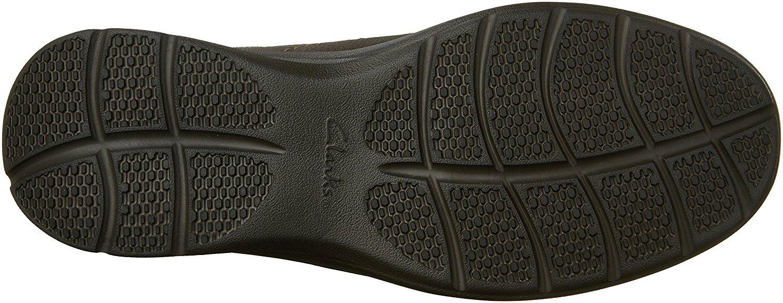 Clarks-Homme-Cotrell-etape-en-cuir-a-lacets-Casual-Derbies-Marron-Huileux-taille-13-0-S miniature 3