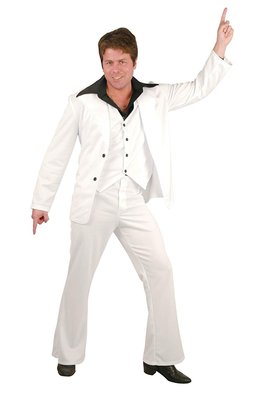 Accurato Charades Uomo Disco Fever Tuta, Bianco, Piccolo, Bianco, Taglia Small Us/-mostra Il Titolo Originale Materiali Di Alta Qualità Al 100%
