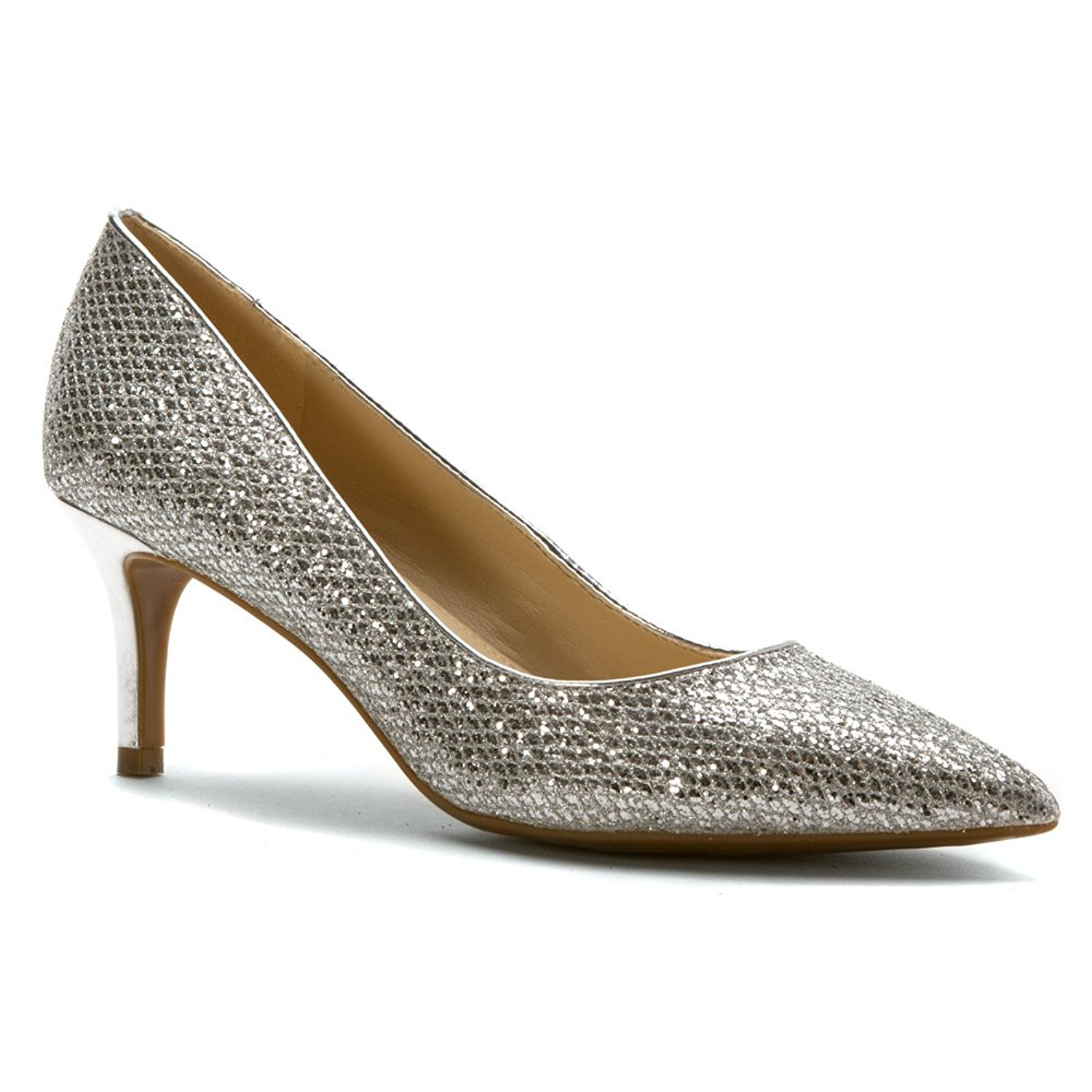 Marc Fisher Womens milee Closed Toe Classic Pumps Silver Size 9.5