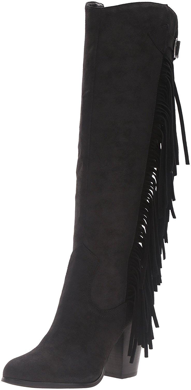 Carlos by Carlos Santana Damenschuhe Roslyn Leder Almond Toe High Knee High Toe Fashion B... 9f0458