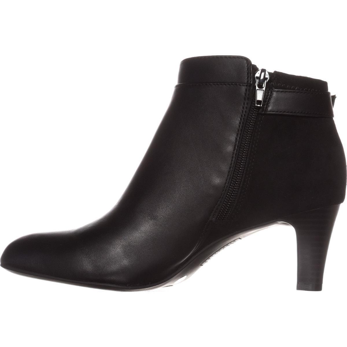 Alfani femmes Valmontt Leather Almond Toe Ankle Fashion bottes