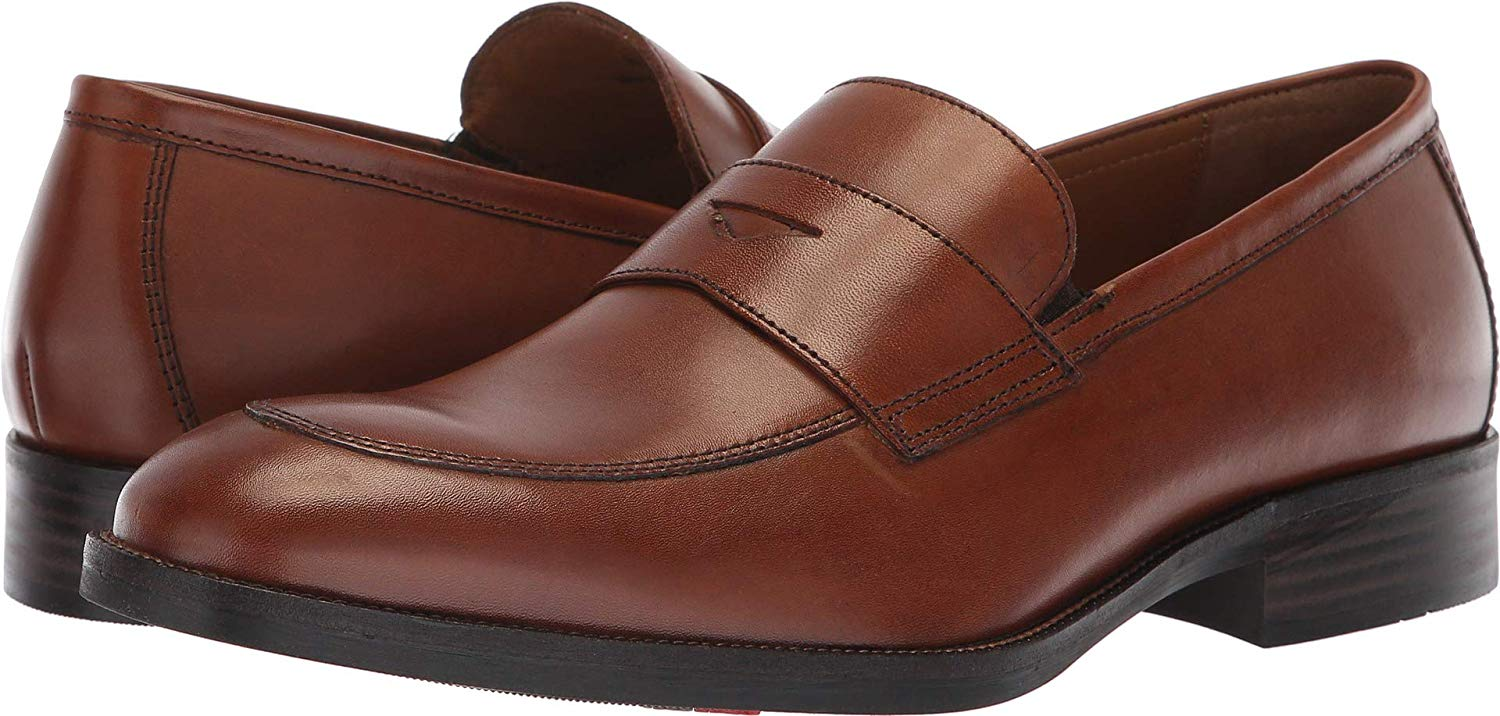 Johnston & Murphy Mens Leather Closed Toe Penny Loafer ...