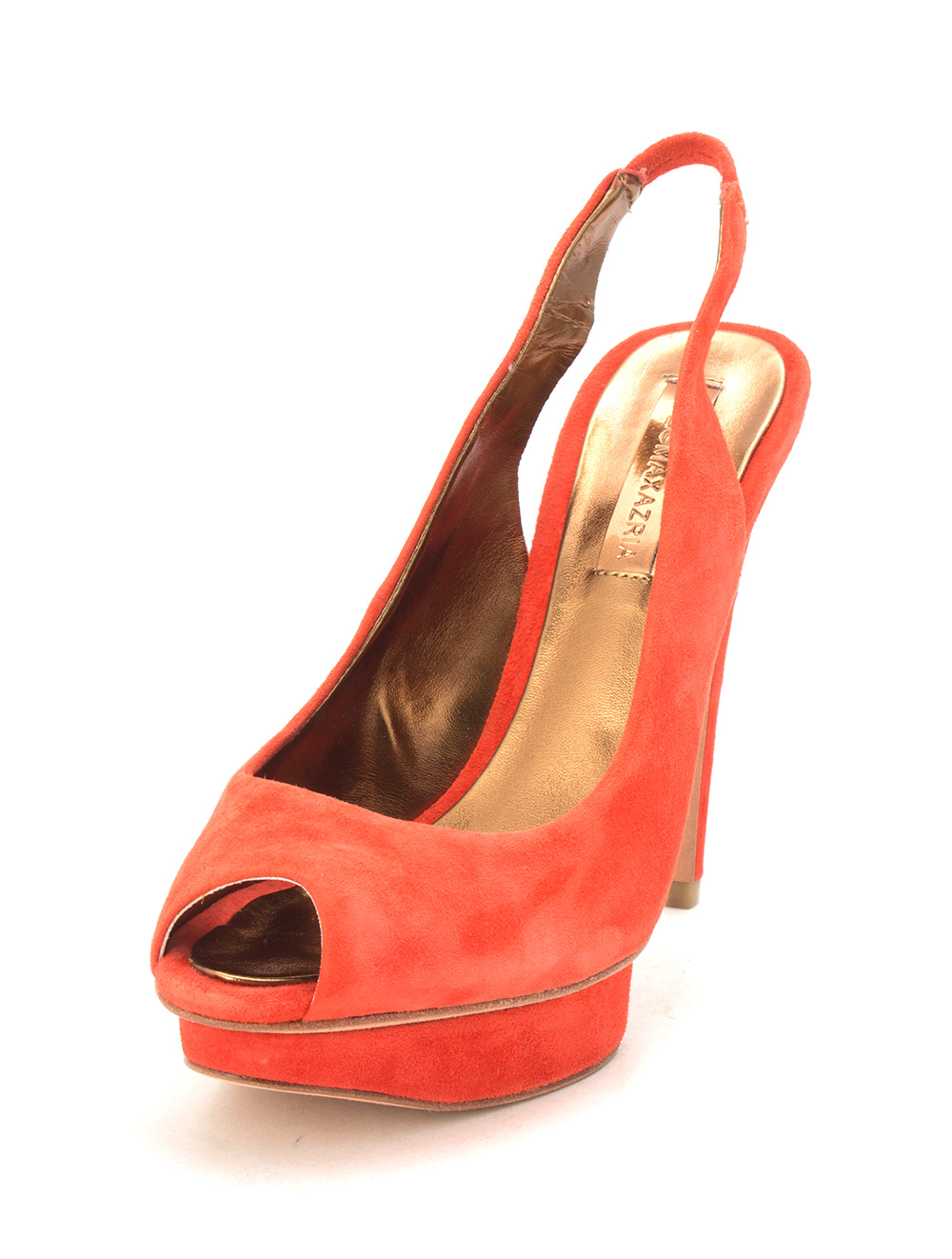 16293dc93a2 Details about BCBGMAXAZRIA Womens Ma fennel Peep Toe SlingBack, Red  poinsetta, Size 5.5 I1zH