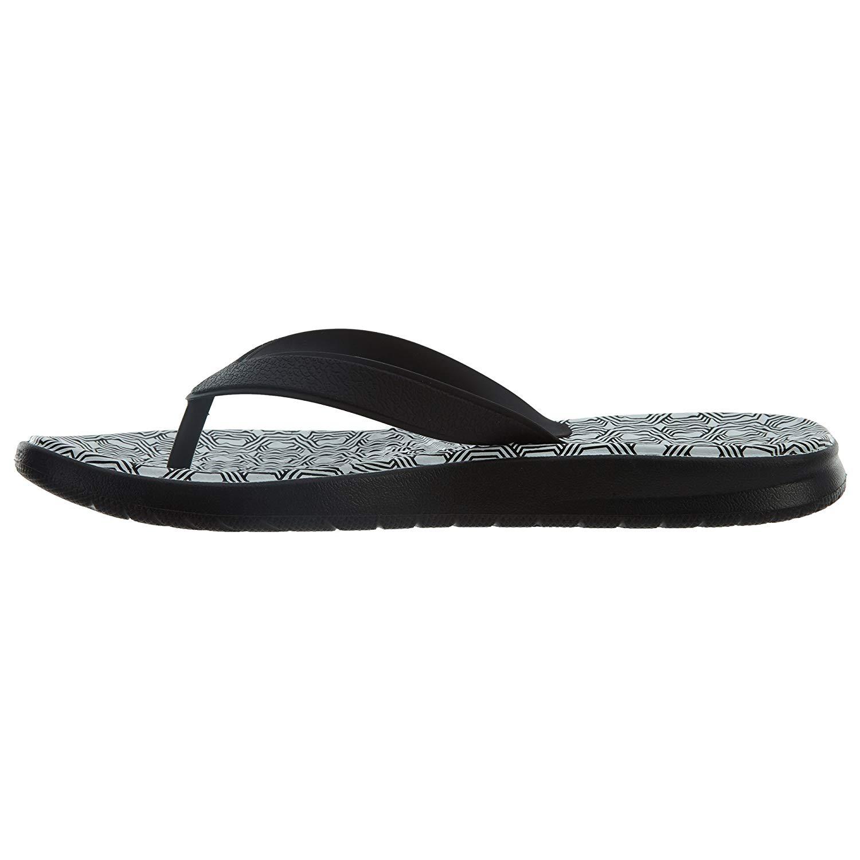 Nike Women s Solay Thong Sandals, Black White, Size 6.0 91204428868 ... e22873d966