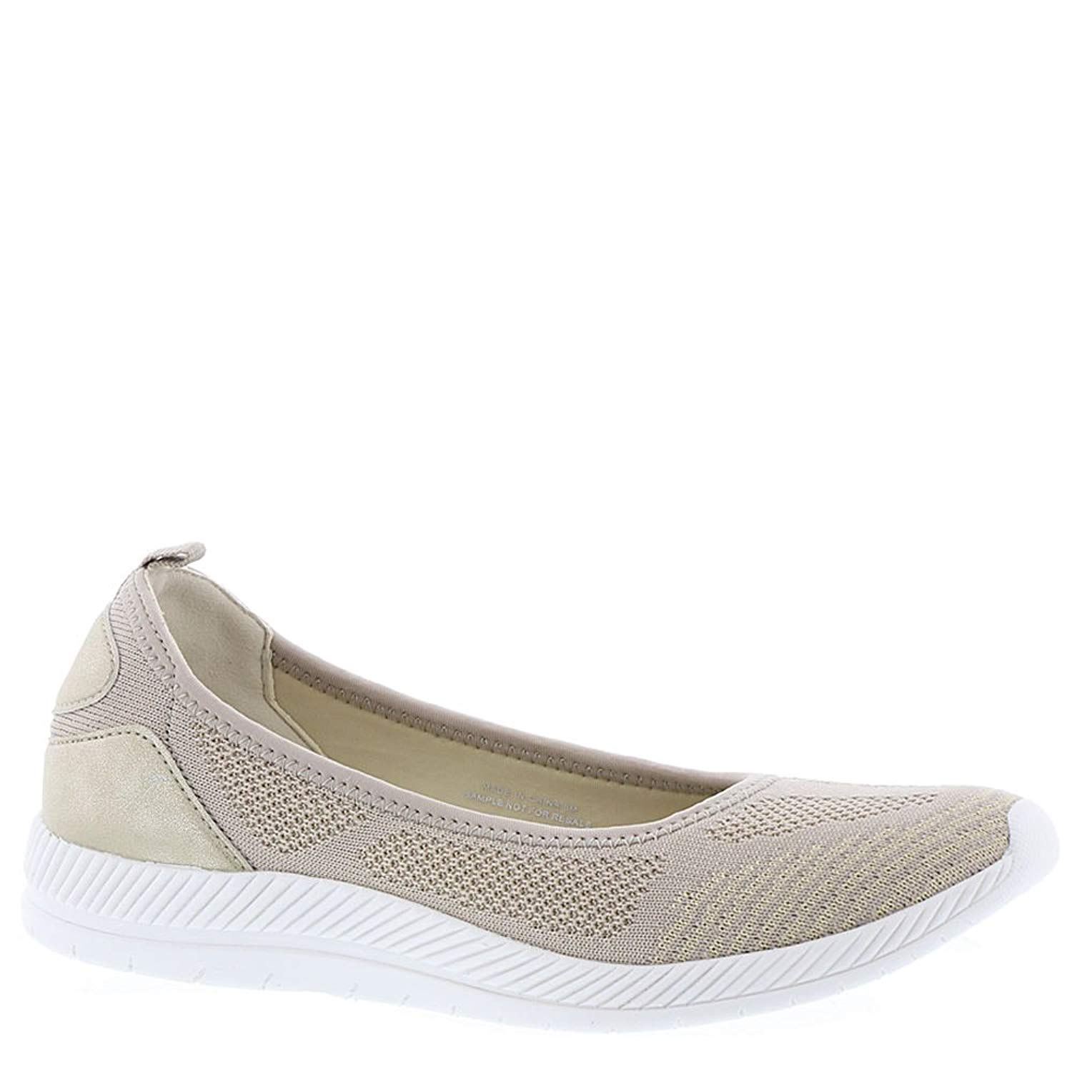 Easy Spirit Womens Geinee Closed Toe Ballet Flats, Shell-taupe, Size 11.0 k3PG