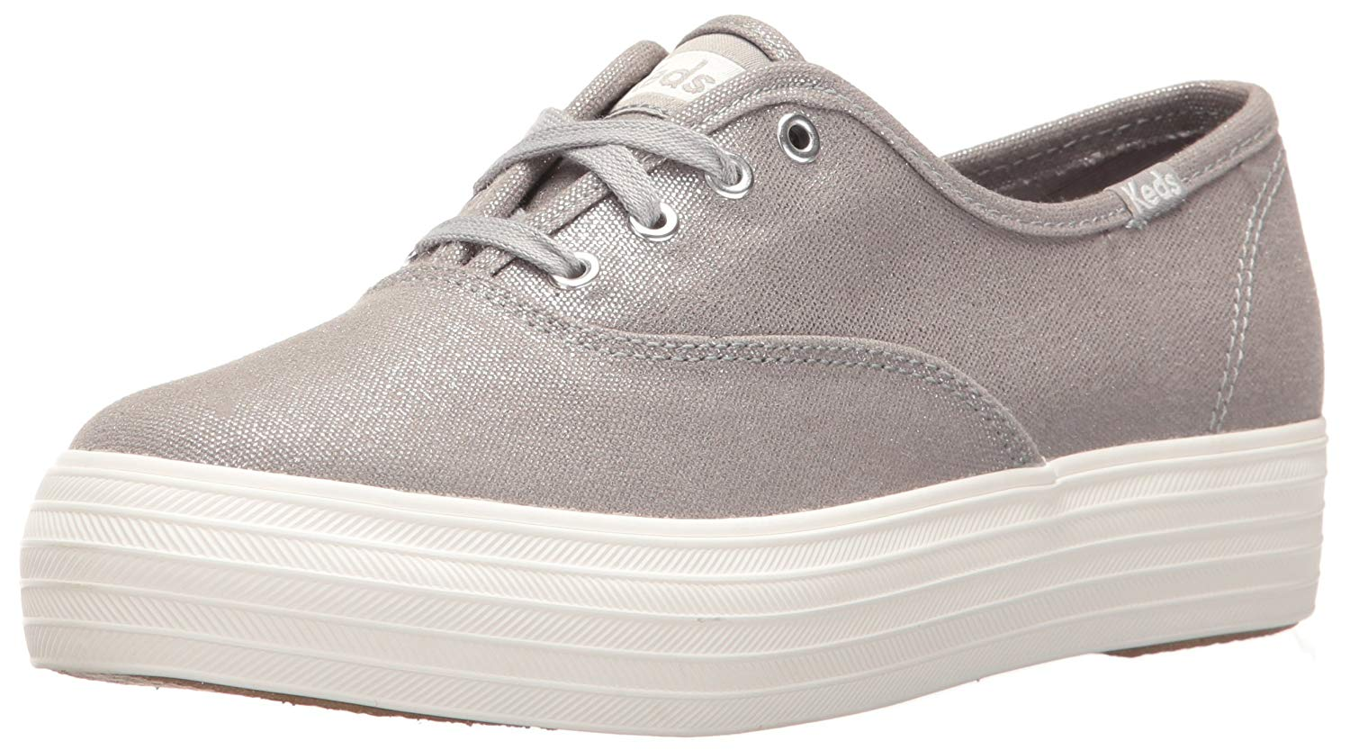 783832674f Keds Womens Triple Metallic Low Top Lace Up Fashion Sneakers