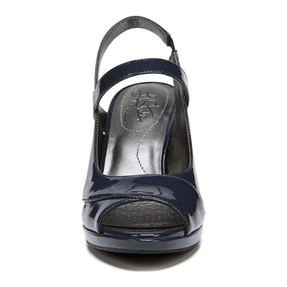 ed88fbed589 LifeStride Womens Vena Peep Toe Casual Ankle Strap Sandals