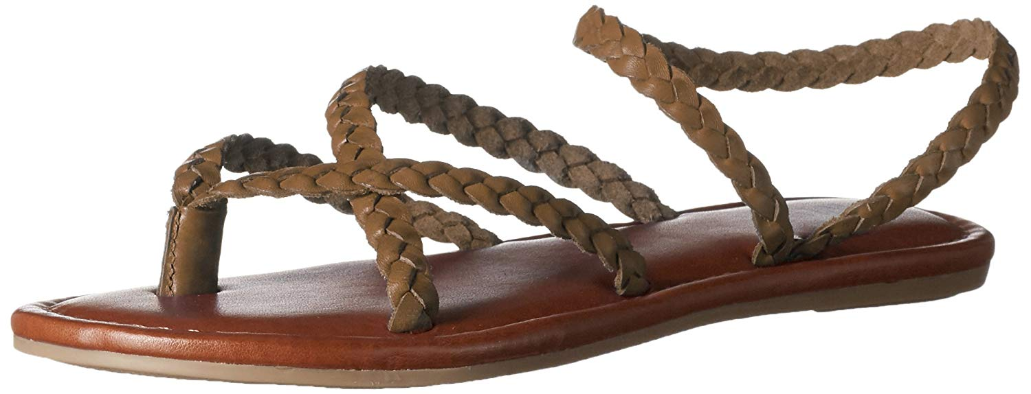 ce8884c26b5 MIA Amore Womens Braid Leather Open Toe Casual Strappy Sandals ...