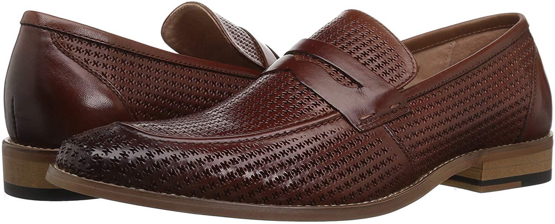 STACY ADAMS Men's Belfair Moe Toe Penny Slip-on Loafer ...