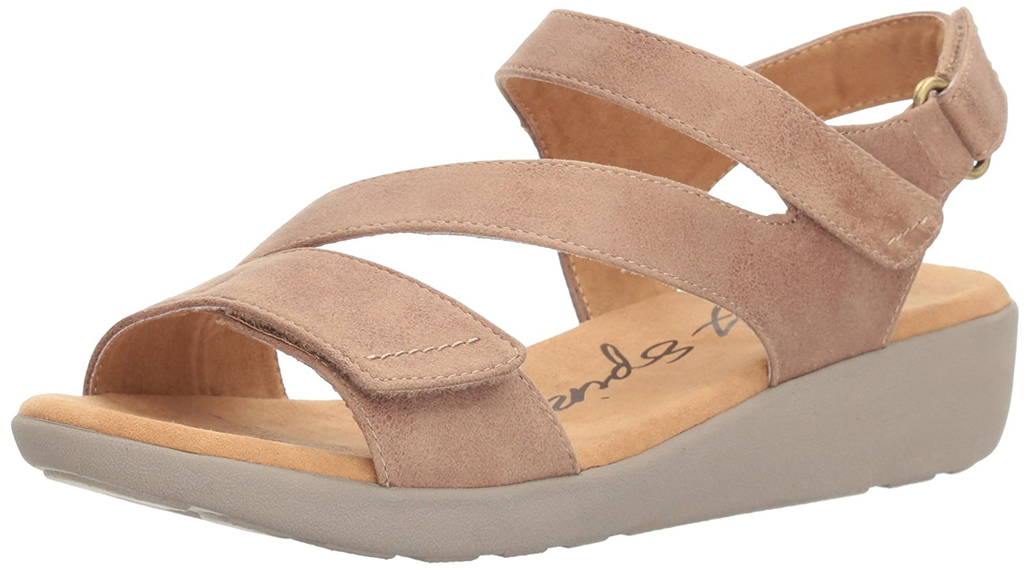 Easy Spirit Womens Kailynne2 Open Toe Casual Slingback Taupe Fabric Size 85