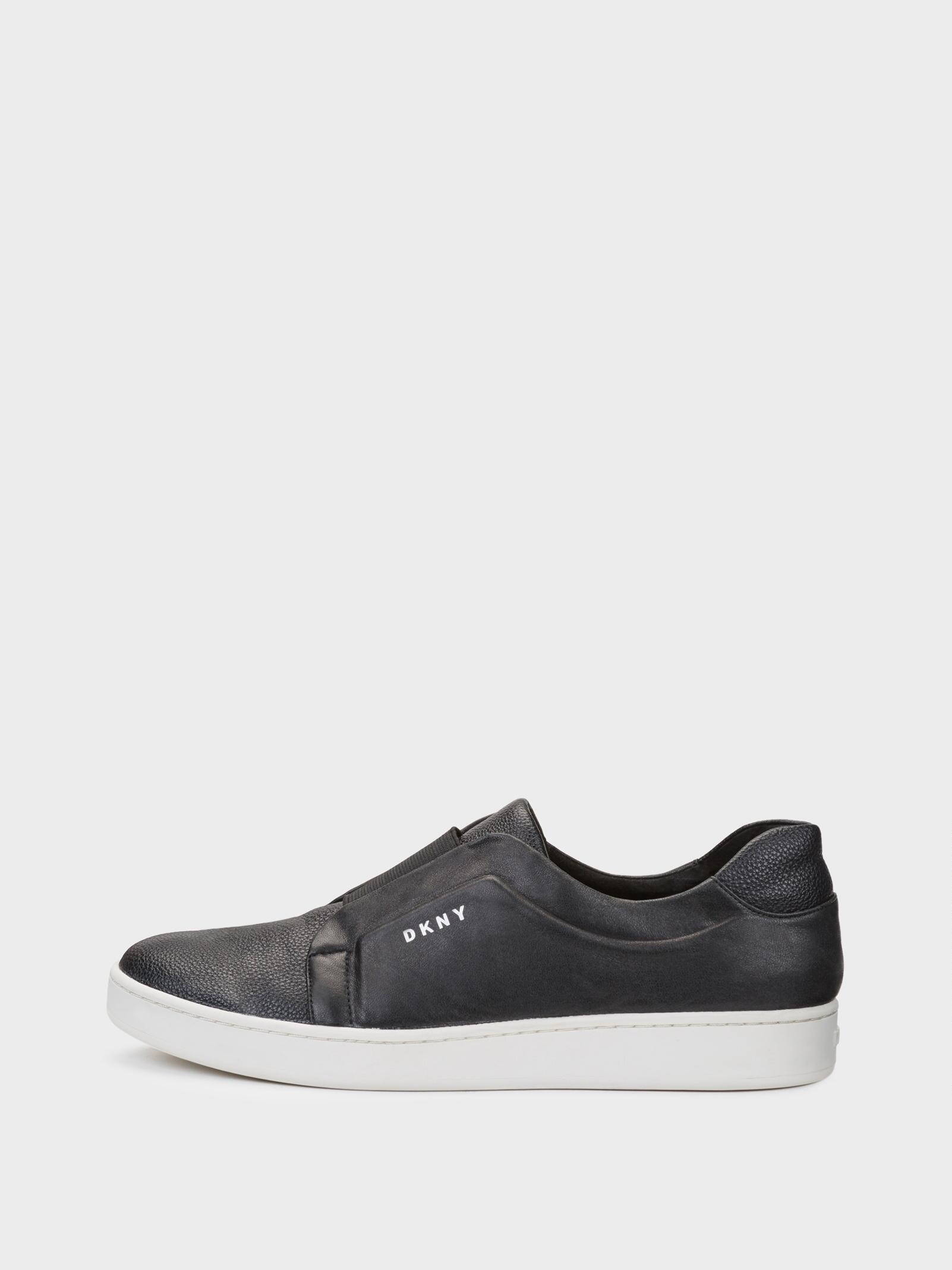 20d8559f1d904 DKNY Womens Bobbi Leather Low Top Slip On Fashion Sneakers