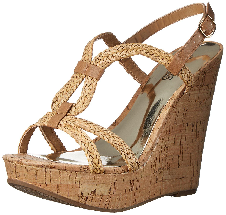 Carlos by Carlos Santana Womens Barby Open Toe Casual Platform Bronze Size 60