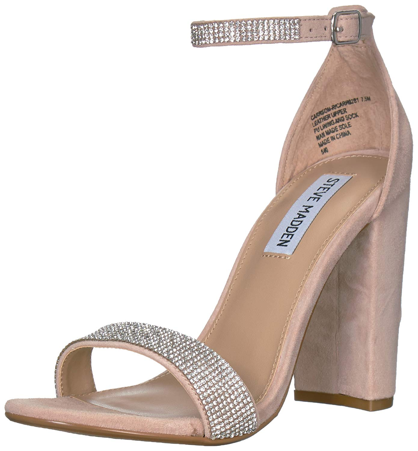 2899679aaf3 Details about Steve Madden Women's Carrson-R Heeled Sandal, Rhinestone,  Size 10.0 Ky0m