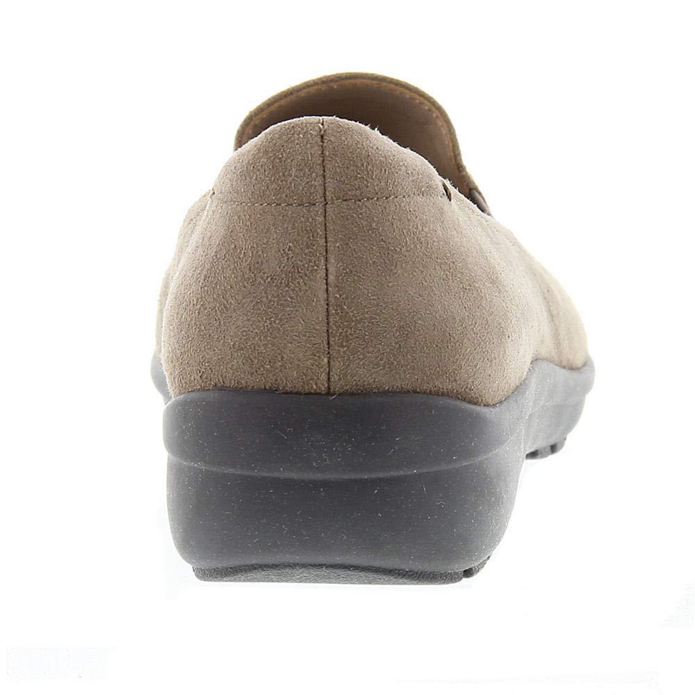 0241beccdd5 Easy Spirit Womens Santara Suede Round Toe Loafers