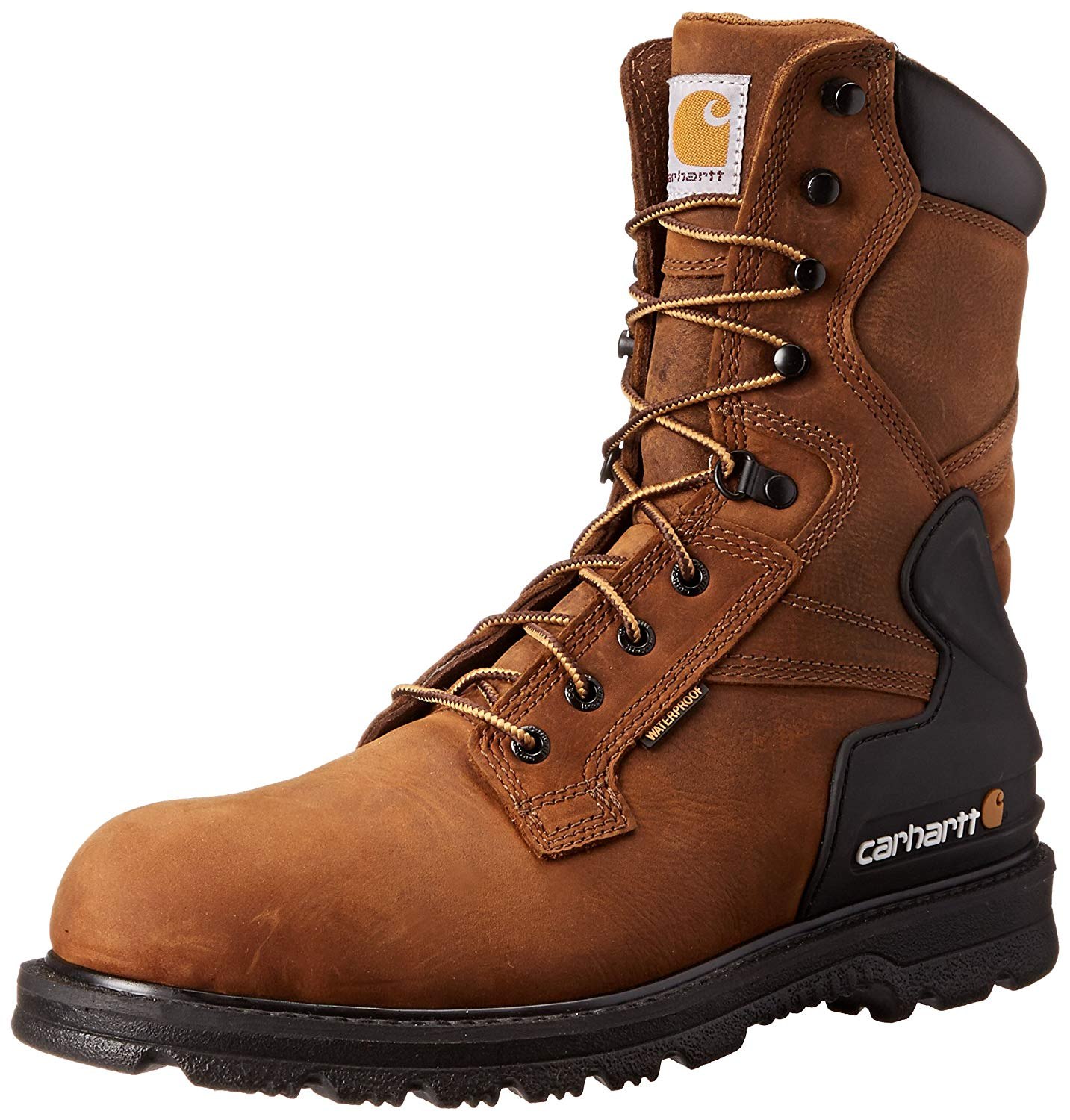 a27391105f9 Details about Carhartt Mens 8 inch Closed Toe Mid-Calf Cold Weather Boots,  Brown, Size 11.5 Ja