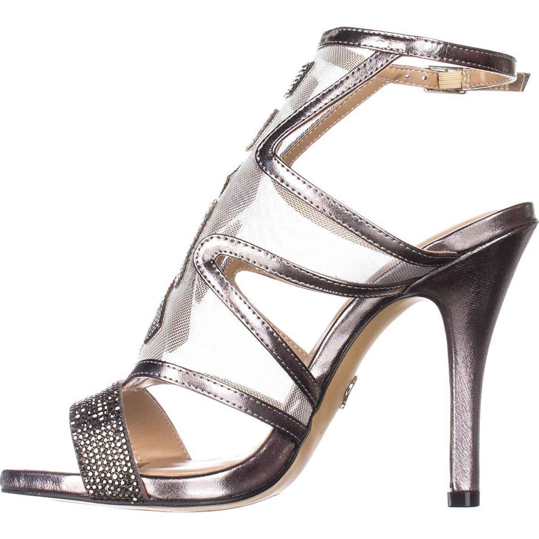 Thalia Sodi Womens regalo Open Toe Ankle Strap Classic Pumps pewterw Size 9.0