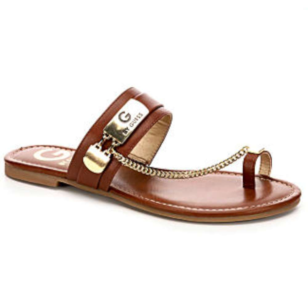 G by Guess Womens Loren Open Toe Casual Slide Sandals