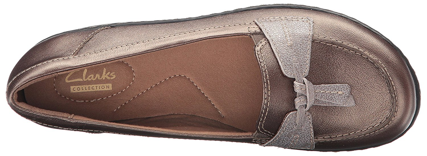 61796168fb0 Clarks Womens Ashland Bubble Leather Closed Toe Loafers