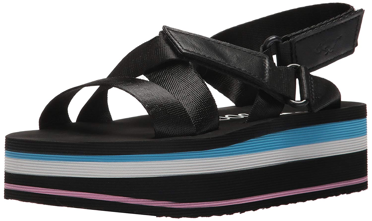 f1319cd1775 Rocket Dog Women s Jarvis Strapper Fabric Smooth Pu Wedge Sandal
