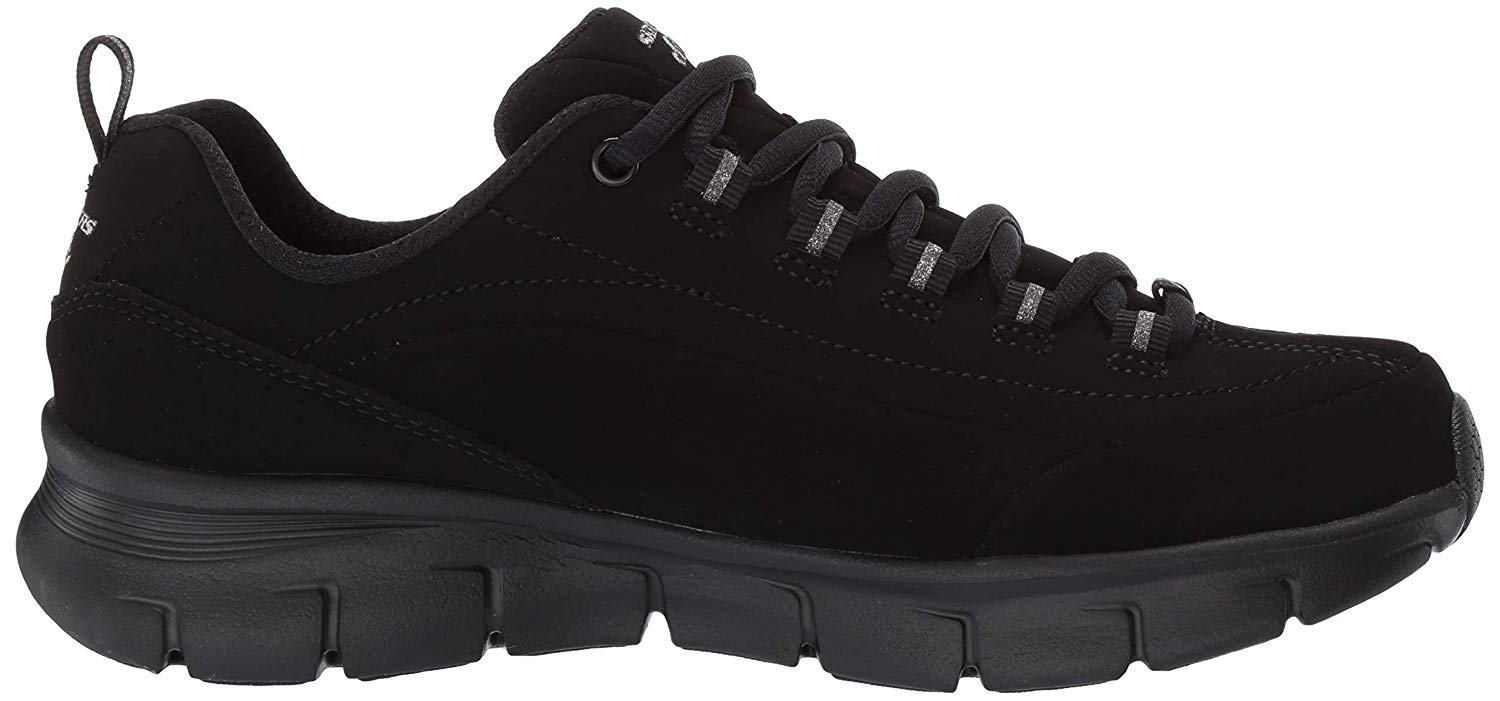 Details about Skechers Womens 13261 Canvas Low Top Lace Up Fashion Sneakers, Black, Size 5.5